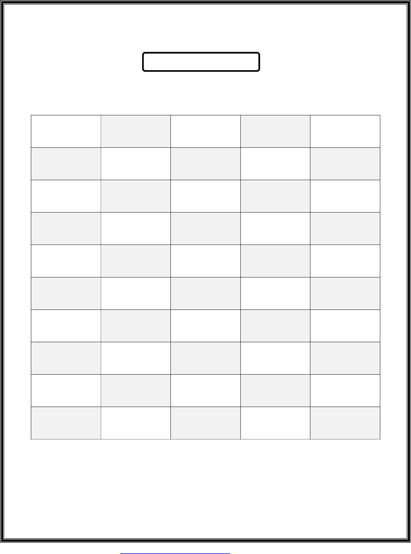 50 Number Chart Printable