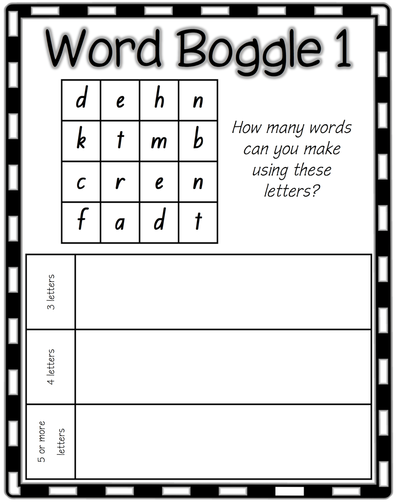 Boggle Word List