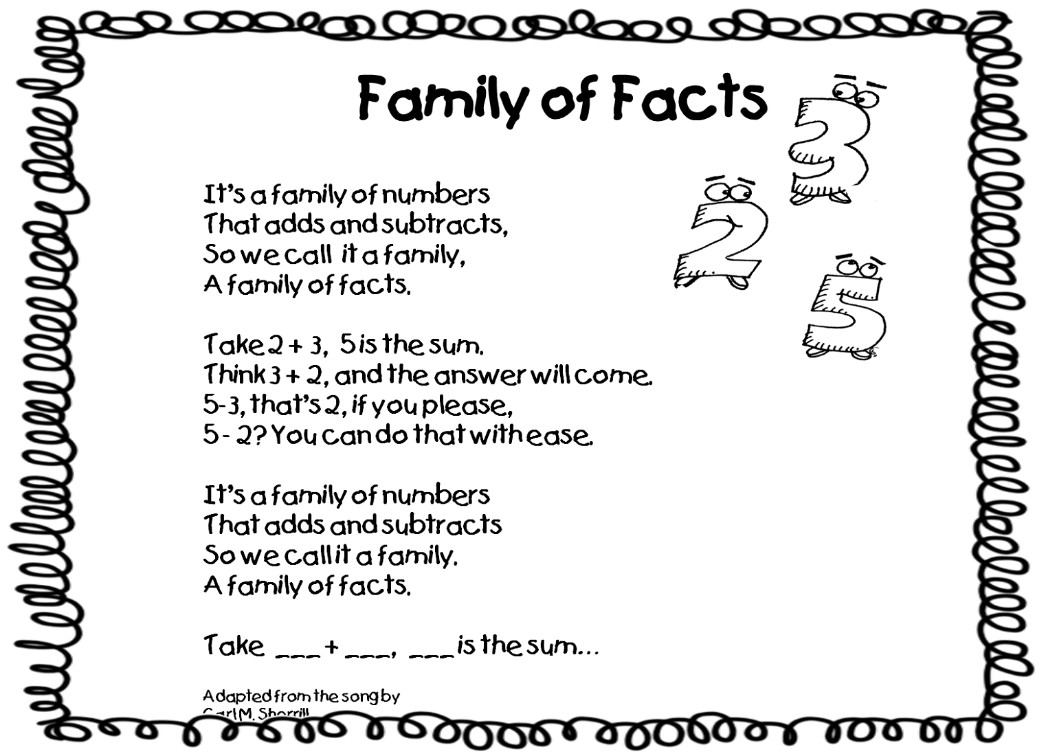 Family Of Facts Worksheets For Math Reinforcement