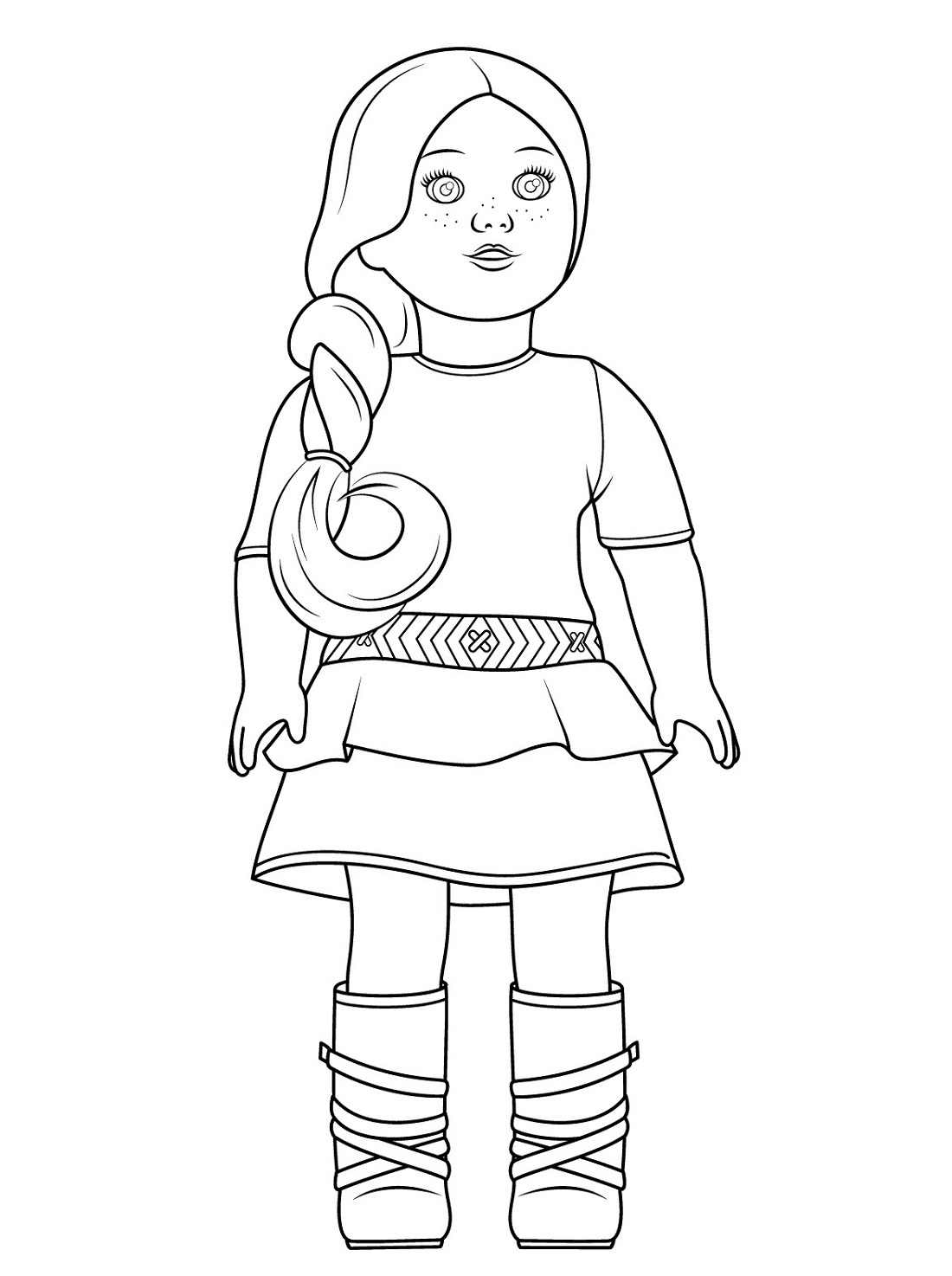 American Girl Doll Coloring Pages Printable