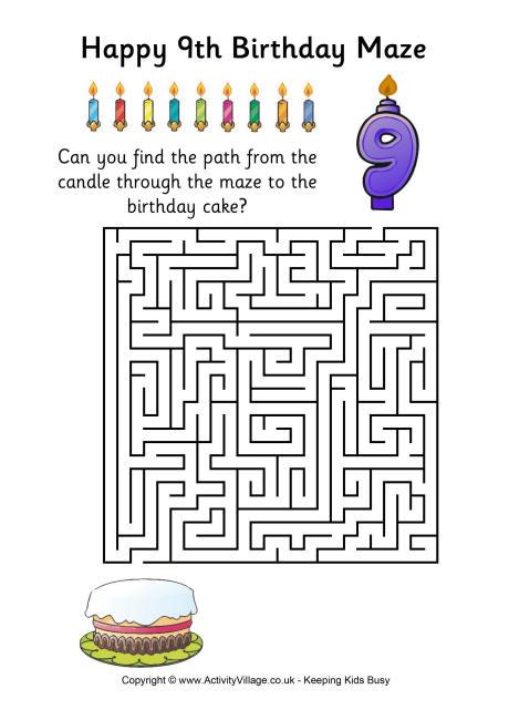 9th Birthday Maze