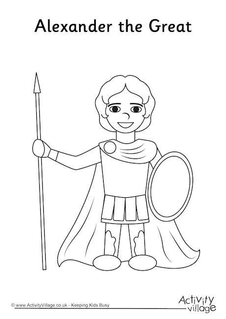 ancient greece colouring pages