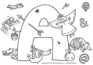 seasonal colouring pages