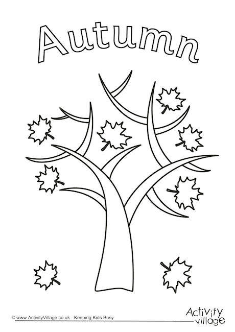 seasons autumn autumn colouring pages trees tree colouring pages