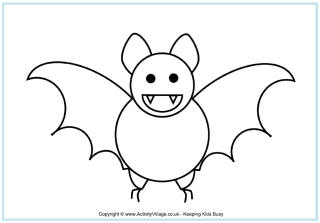 bat colouring pages