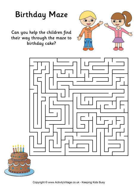 Birthday Maze 3