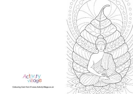 Buddha Colouring Card