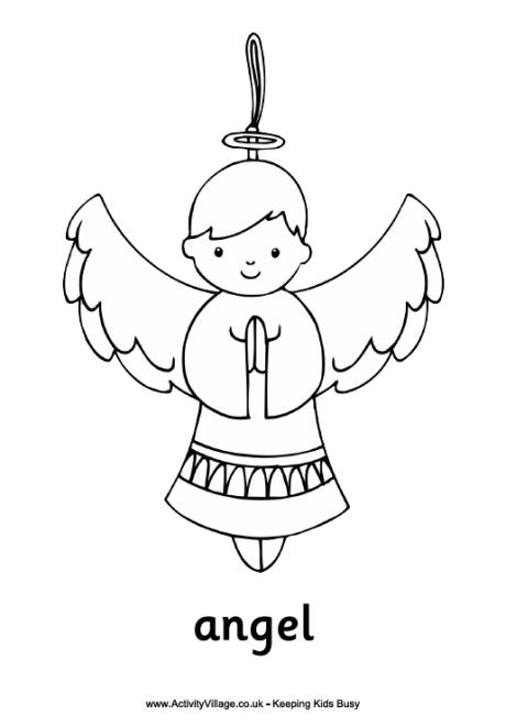 Angel Colouring Page