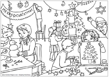 christmas coloring pages activity village 7 pics of detailed