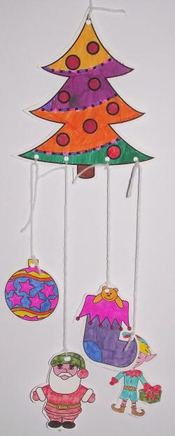 Christmas Colouring Mobile