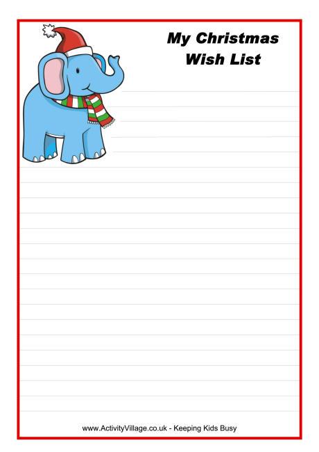 Christmas Wish List Templates. Free Printable Letter To Santa