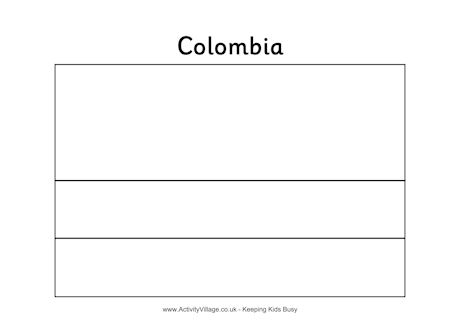 colombian flag coloring page colombia colouring flag