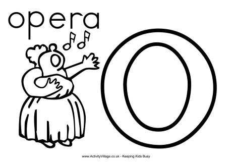 letter o colouring pages