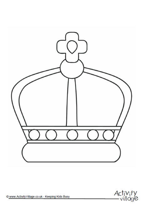 crown colouring page 2