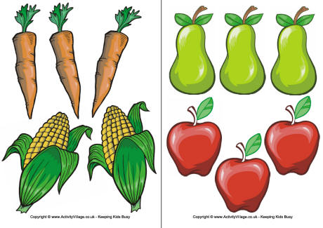 Fruit and vegetable clipart printable