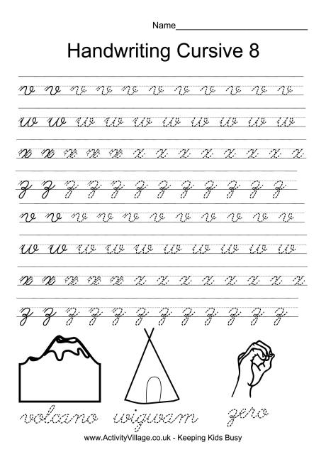 cursive writing. cursive handwriting handwriting worksheets and ...