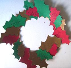 Thankful Holly Wreath