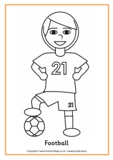 sports colouring pages for kids