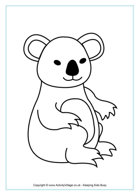 koala colouring pages