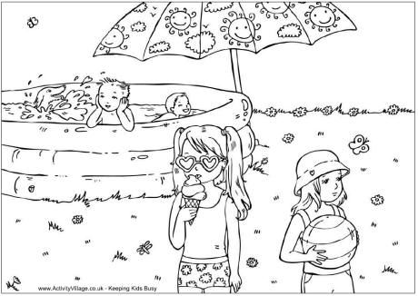 summer coloring activity pages cooloring com