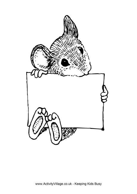 rat sign colouring page