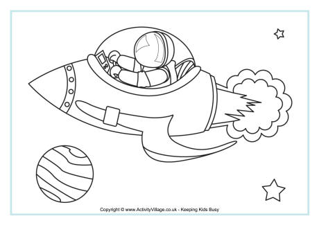 space colouring pages