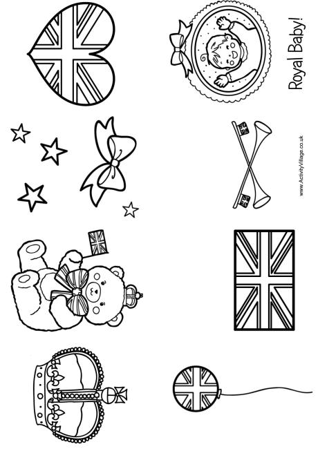 royal baby colouring booklet