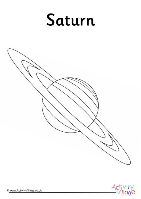saturn colouring page