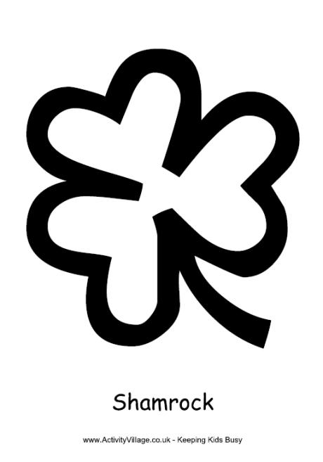 shamrock colouring page 2