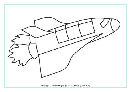 space ship colouring page