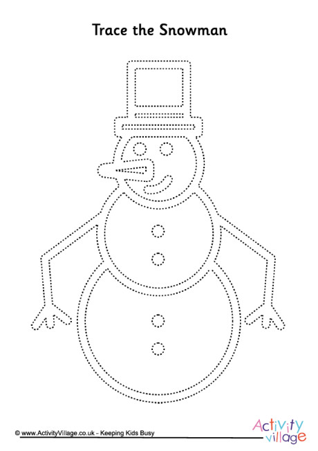 Snowman Tracing Page