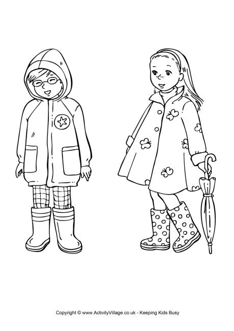 clothes clothing colouring pages seasons spring spring colouring pages
