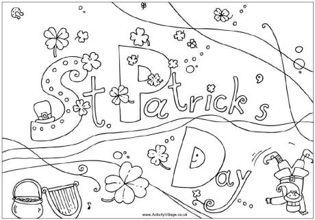 st patrick 39 s day colouring pages