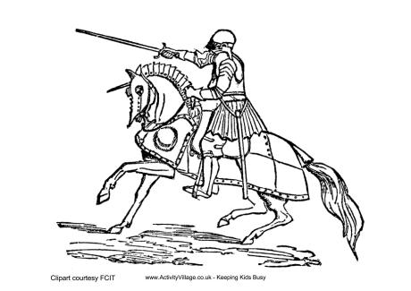 knight colouring pages - Knight Coloring Pages