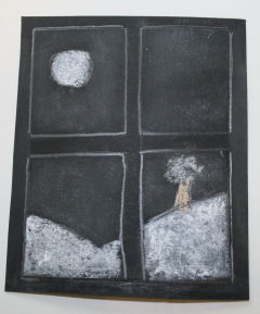 Snowy Pictures With Chalk