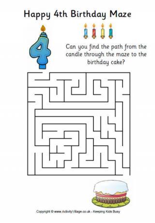 10th Birthday Maze