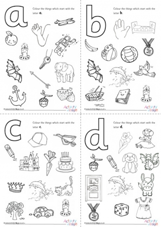 Initial Letter Colouring Pages