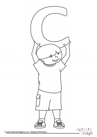 letter c colouring pages