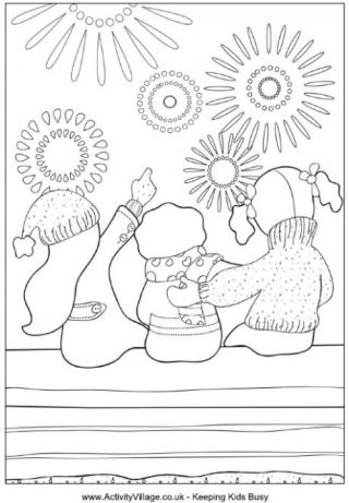 firework coloring pages # 14