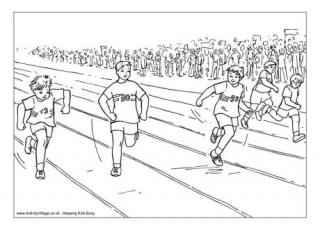 colouring page who will win the race we think that this colouring page