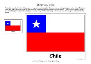 chile flag colouring page