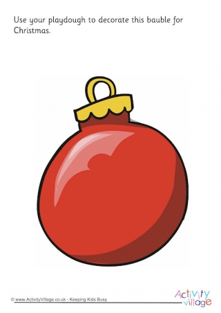 Round Baubles Template