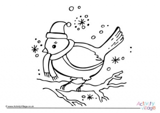 robin coloring page # 11