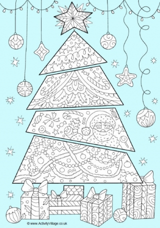 tree colour pop colouring page this colouring page of a christmas tree