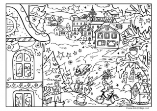 Christmas Colouring Pages