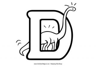 Letter D Colouring Pages