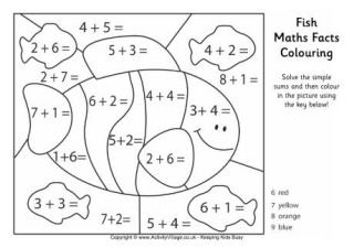 maths facts colouring pages