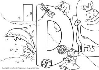 alphabet of children colouring pages d girl