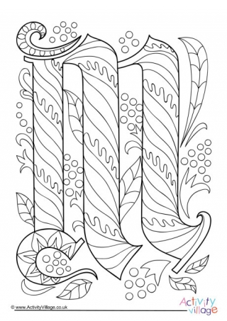 letter m coloring page # 14