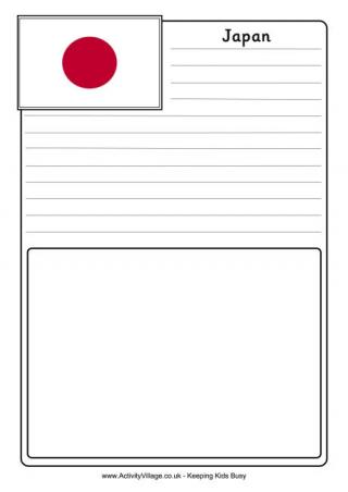 japan flag colouring page
